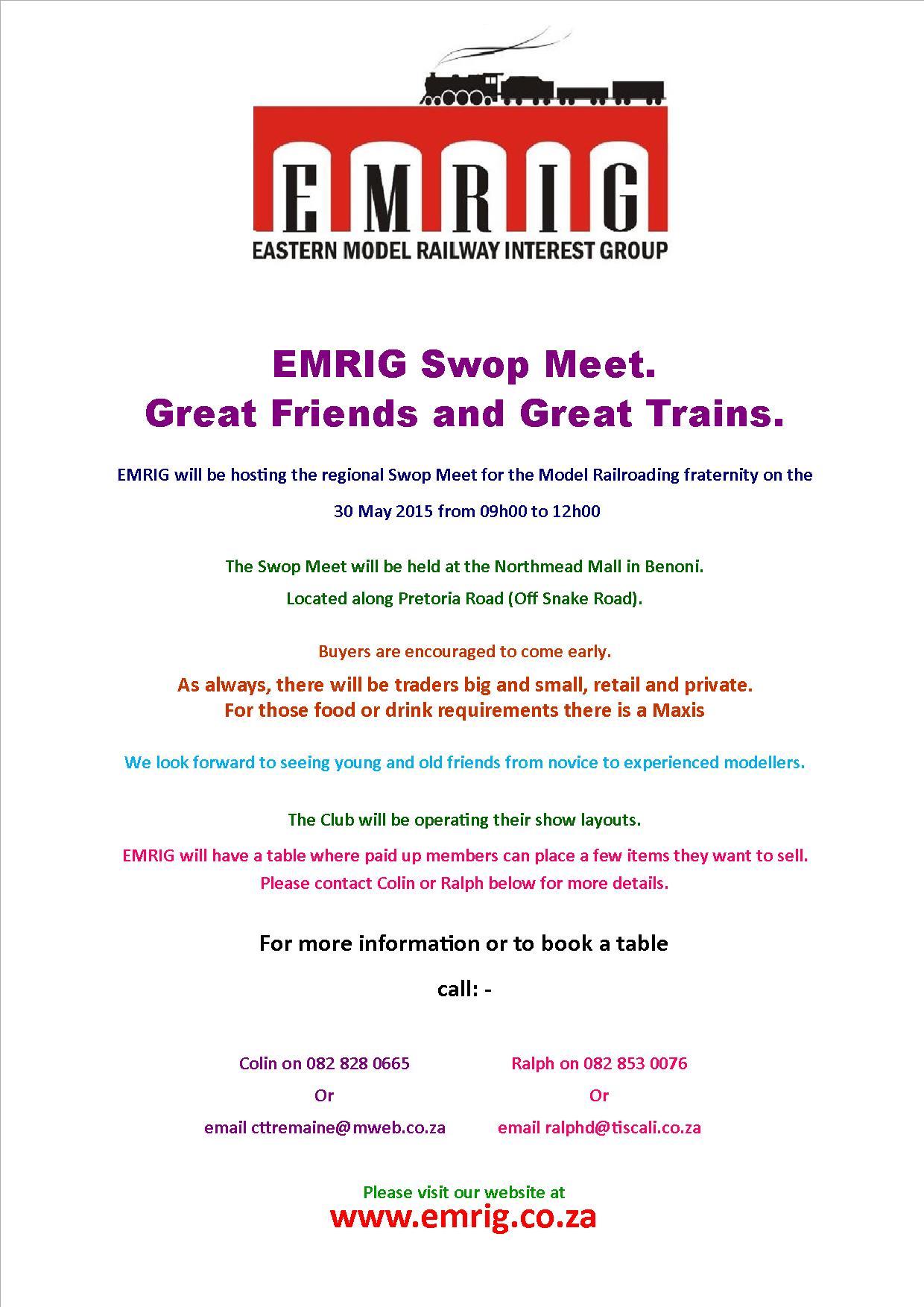 2015 May Swap Meet Flyer